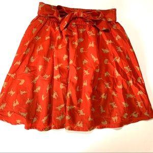 Dresses & Skirts - Women's cat print circle skater skirt